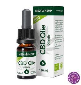 Medihemp Medihemp CBD olijfolie  6% (10ml) – naturel smaak