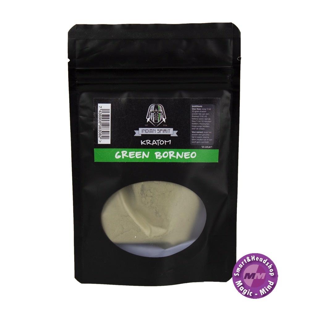Indian Spirit Kratom – Green Borneo Indian Spirit Kratom – Green Borneo 25gram