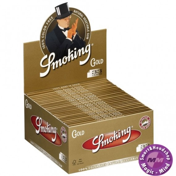 Smoking Smoking Gold K.S. Slim 50 pks/33L