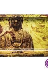 Buddha Hemp Leaf Metal Rolling Tray, Large (27 L/16 W)