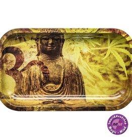 Buddha Hemp Leaf Metal Rolling Tray