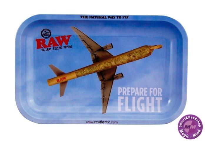Raw RAW Metal Rolling Tray Flying High 17.5CM X 27.5CM