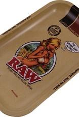 RAW Metal Rolling Tray RAW Girl(17,5 x 27,5cm)