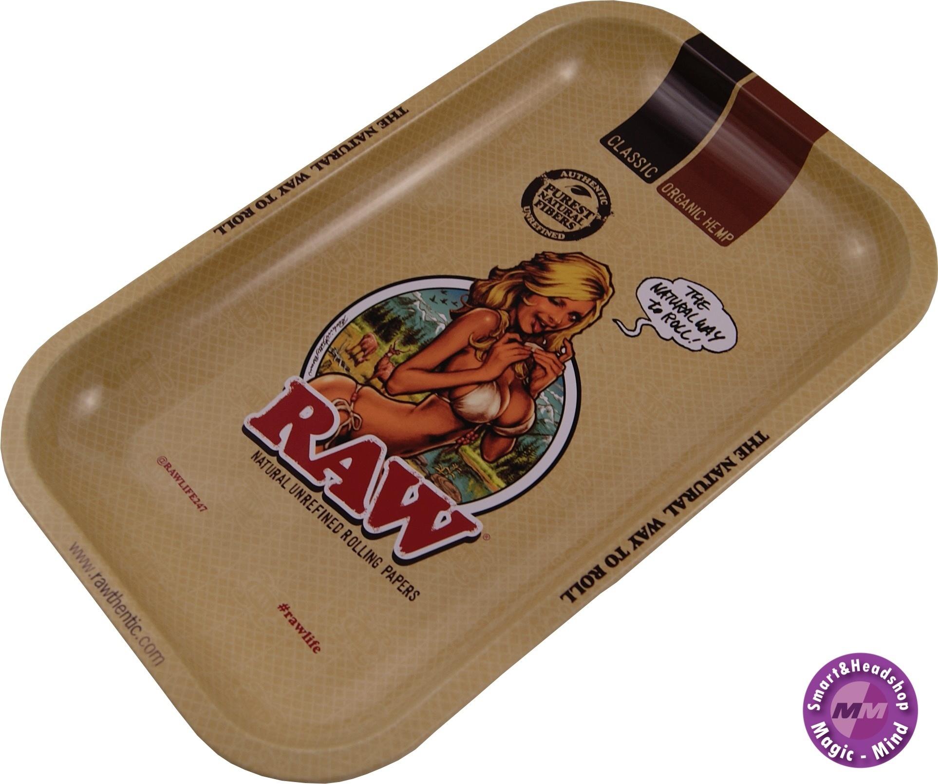 Raw RAW Metal Rolling Tray RAW Girl(17,5 x 27,5cm)