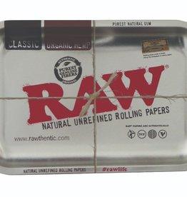 RAW RAW Metal Rolling Tray Metalic Silver