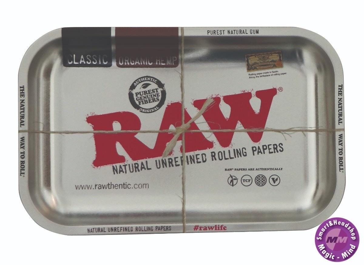 Raw RAW Metal Rolling Tray Metalic Silver (17,5 x 27,5cm)