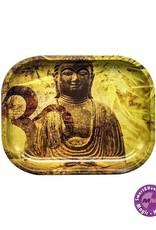 Buddha Hemp Leaf Metal Rolling Tray Small