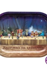 Alice Dinner Metal Rolling Tray Small