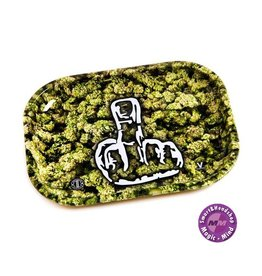 Buds With Middlefinger Metal Rolling Tray Small