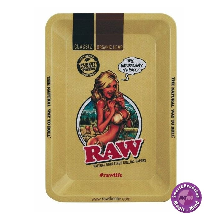 RAW RAW Metal Rolling Tray, Girl Small (12,5 x 18 cm)