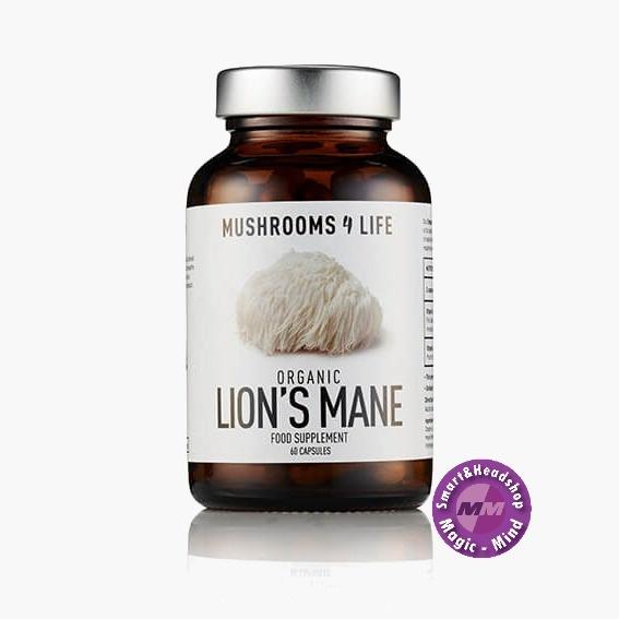 Mushrooms4Life Mushrooms4Life Lion's Mane - Bio - 60 Caps