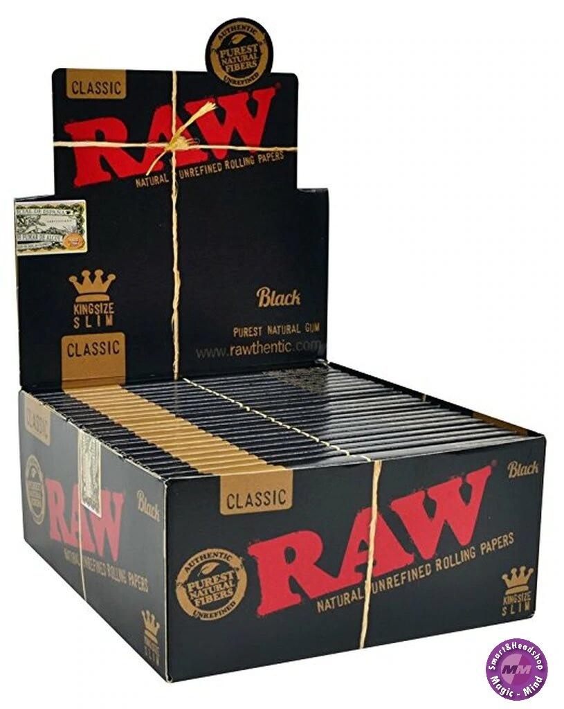 Raw Raw Black Classic KS Slim 50pks/32L