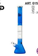 Grace glass Grace Glass | Big Beaker Fluo Blue H:55cm - Ø:50mm - SG:29.2mm