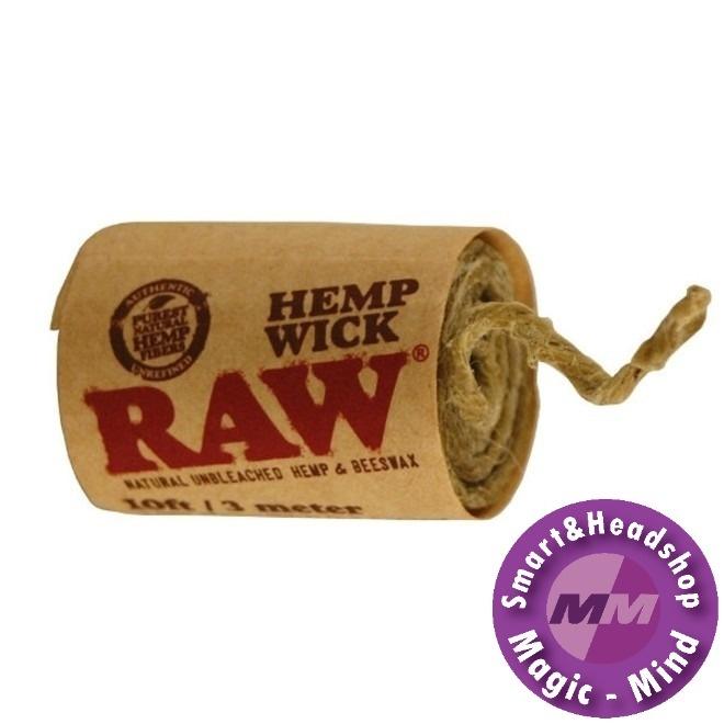RAW Hemp Wick  RAW 300 cm lange lont van hennep en bijenwas