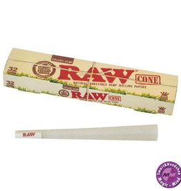 Raw RAW Organic Pre-Rolled Cone King Size 109mm 32 pc