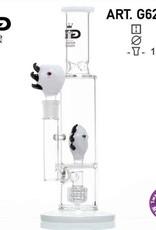 Grace glass Monster Hvid Limited Edition GG Bong H:33cm - Ø:60/40mm - SG:18,8 - 1x Tromme difuser og Honeycomb disk