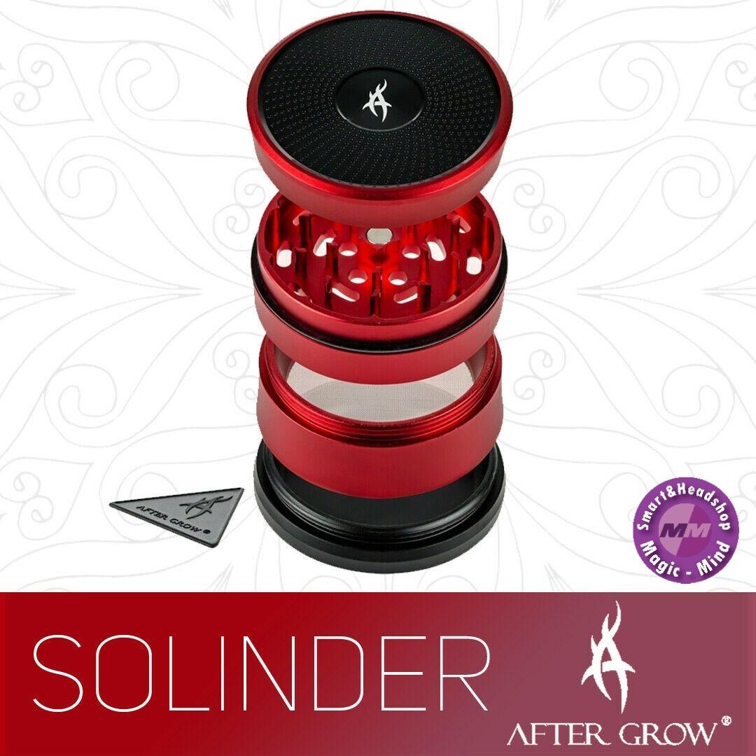 After Grow Grinder Aluminium 62mm 'After Grow' - Solinder Red