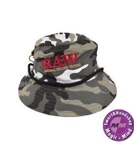 Raw RAW SMOKERMAN'S BUCKET HAT - CAMO - MEDIUM