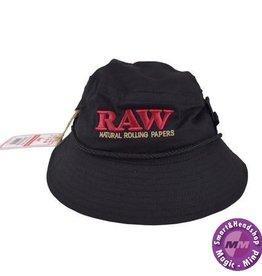 Raw RAW SMOKERMAN'S BUCKET HAT - BLACK - MEDIUM