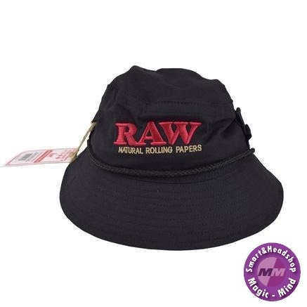 Raw RAW SMOKERMAN'S BUCKET HAT - BLACK - MEDIUM
