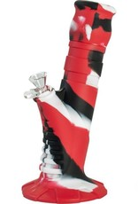 Silicone Bong Silicone Bong 10' Beaker 2 Part Red + Black + White25 cm
