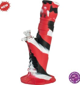Silicone Bong Silicone Bong 10' Beaker 2 Part Red + Black + White25 cm