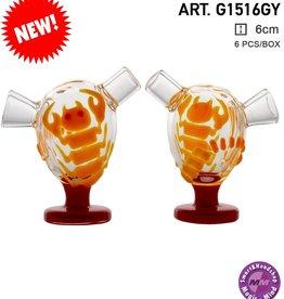 Grace Glass Grace Glass | Desert Storm Light Orange | 6 pcs in display Glow in the Dark