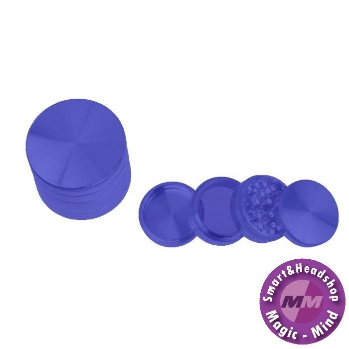 Aluminium Grinder Aluminium (Ø 55 mm, 4 Parts), Blue