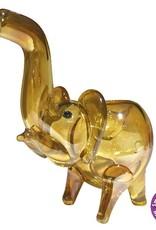 GOLD TRANSPARENT ELEPHANT - 10CM