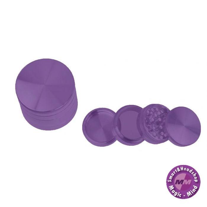 Aluminium Grinder Aluminium (Ø 55 mm, 4 Parts), Purple