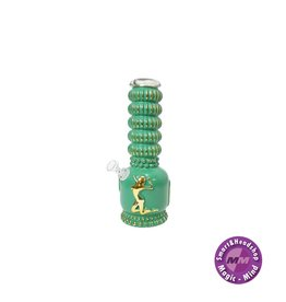 Stripper Vintage Heavy Bong - Green and Gold - 27cm