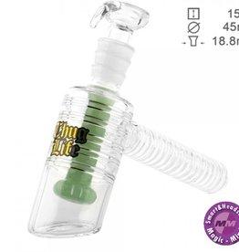 Grace glass Thug Life | Bubbler Green - H:15cm - Ø:45mm - SG:18.8mm