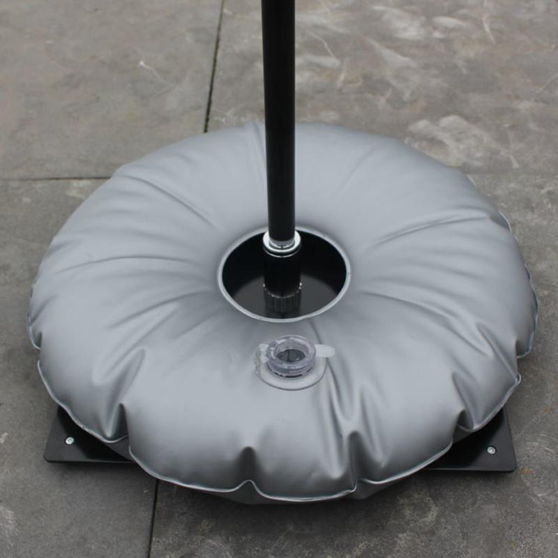 Bakkeplate svart med vannpose grå