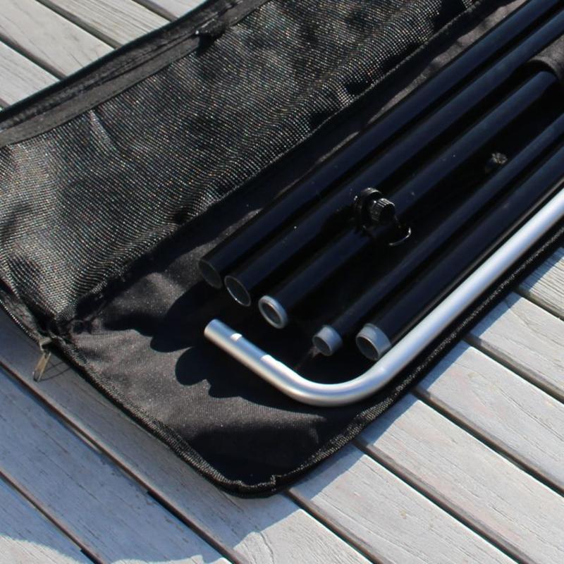 Beachflagg Block-stang L, svart