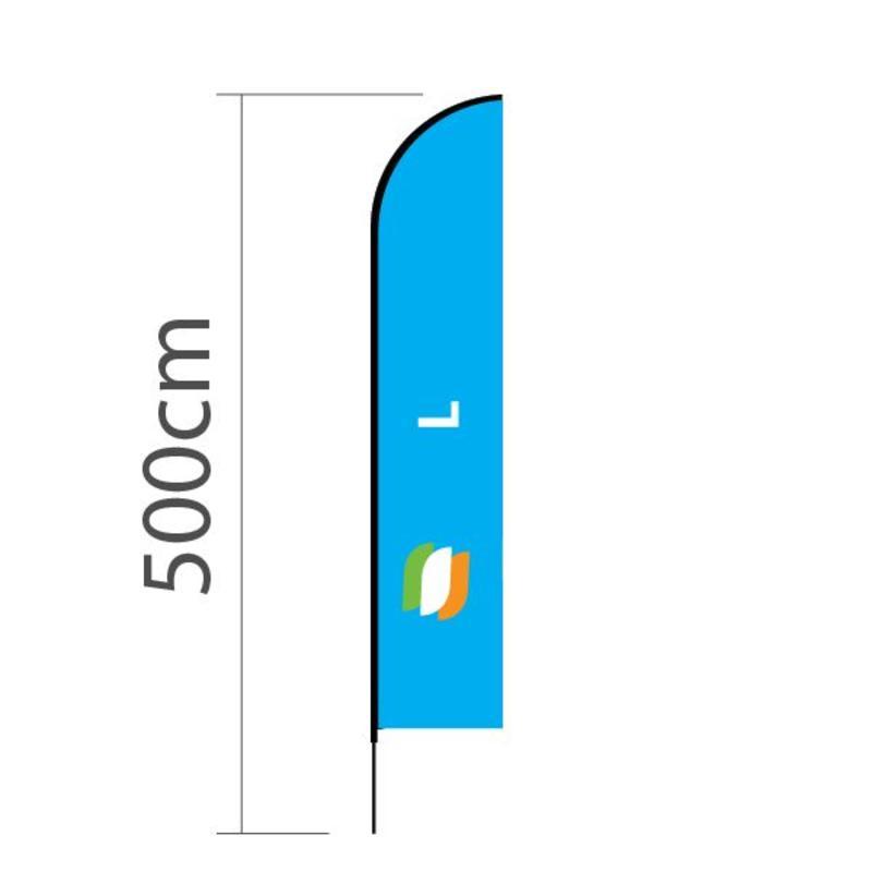 Beachflagg Straight L - 75x380 cm