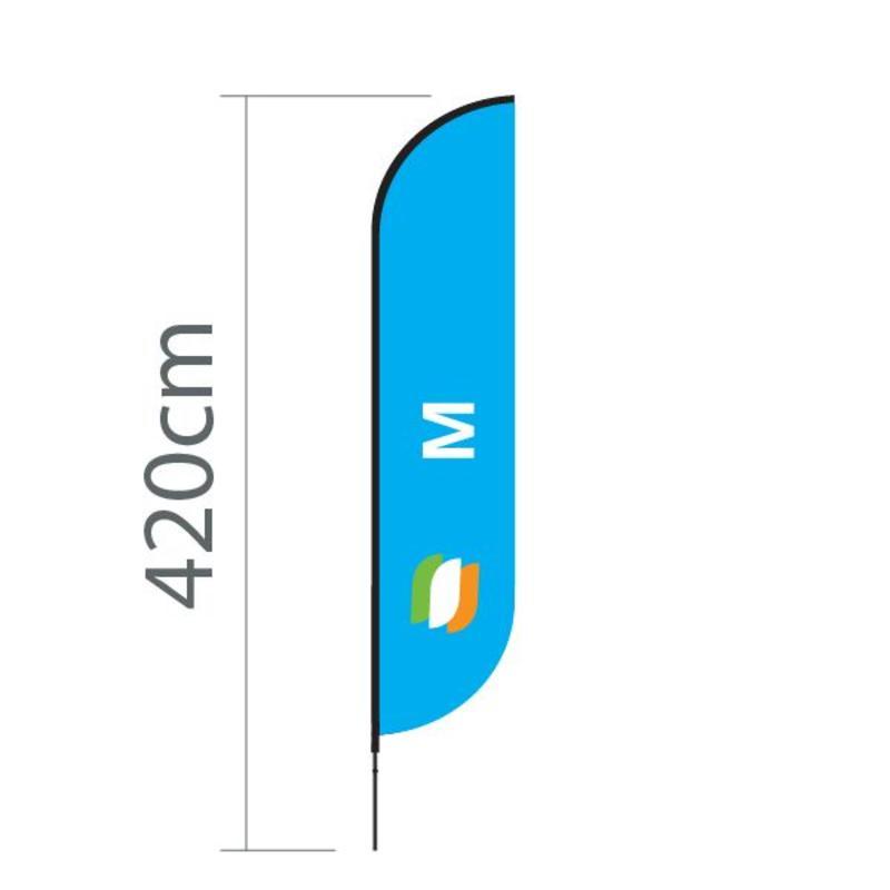 Tegning Beach flag Convex M - 70x330 cm