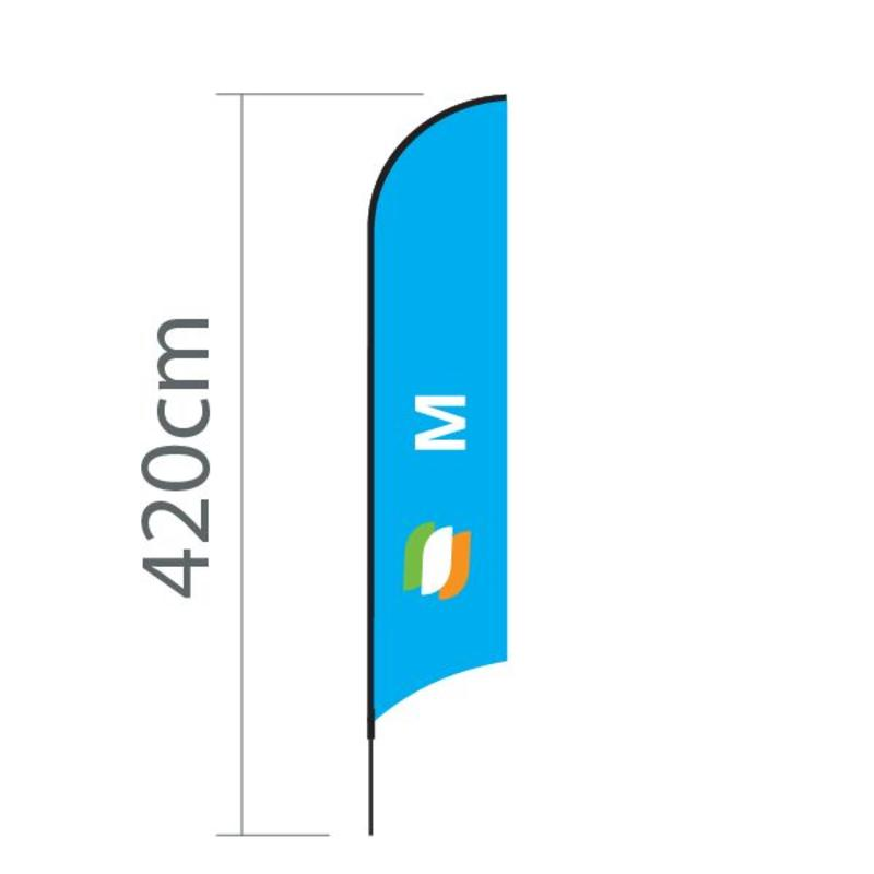 Beachflagg Concave M - 70x330 cm