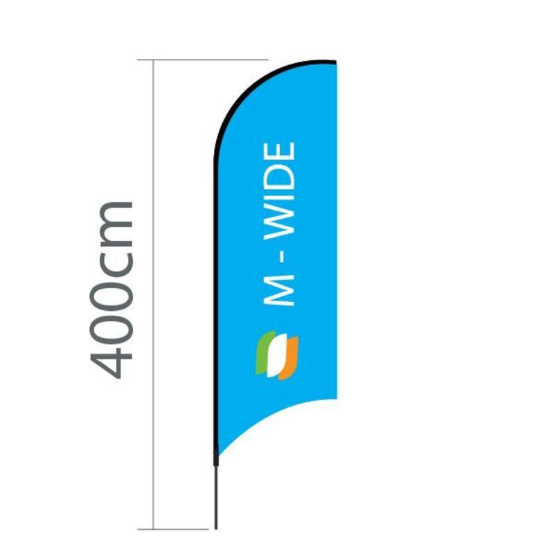 Beachflagg Concave M-Bred - 90x300 cm
