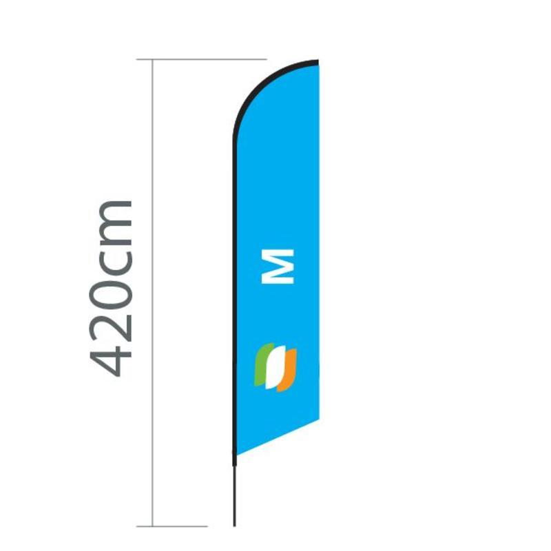 Beachflagg Angled M - 70x330 cm