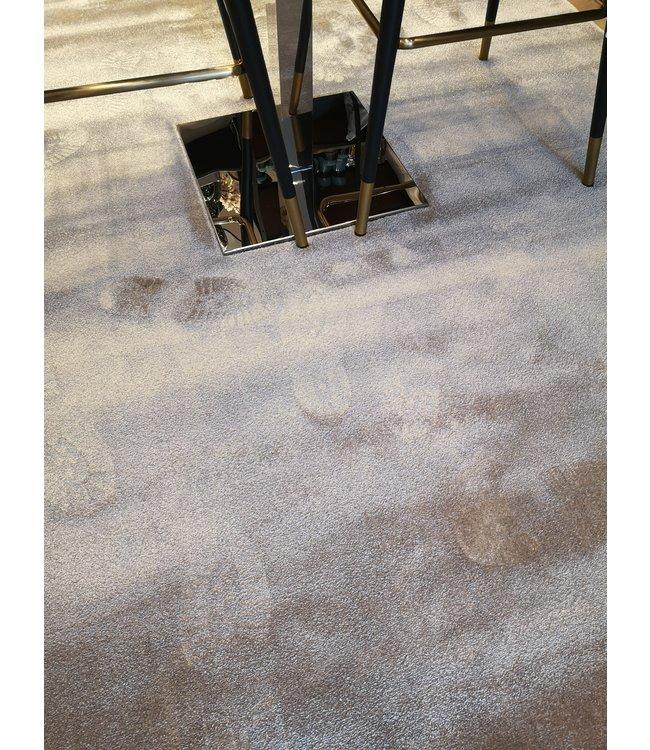Velvet beige carpet