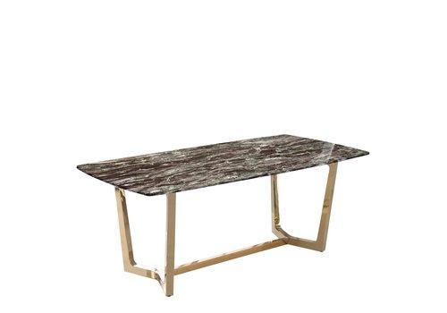 Eettafel Marmer zwart 160x90x76
