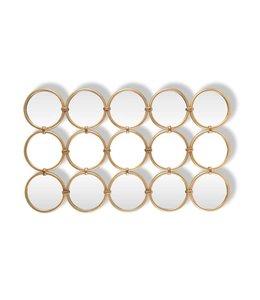 Spiegel Coley met 15 ronde spiegels (Goud) MI0039