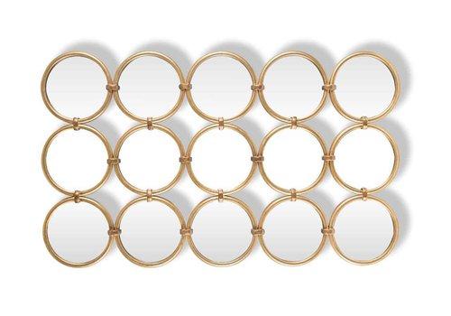 Richmond Interiors Spiegel Coley met 15 ronde spiegels (Goud) MI0039
