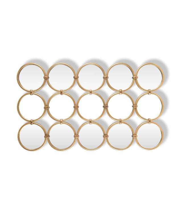 Spiegel Coley met 15 ronde spiegels (Goud)-MI0039