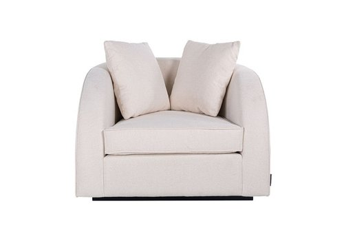 Richmond Interiors Fauteuil Darwin met 2 kussens White/Gold (Alaska 906 Offwhite) S5123 WHITE/GOLD