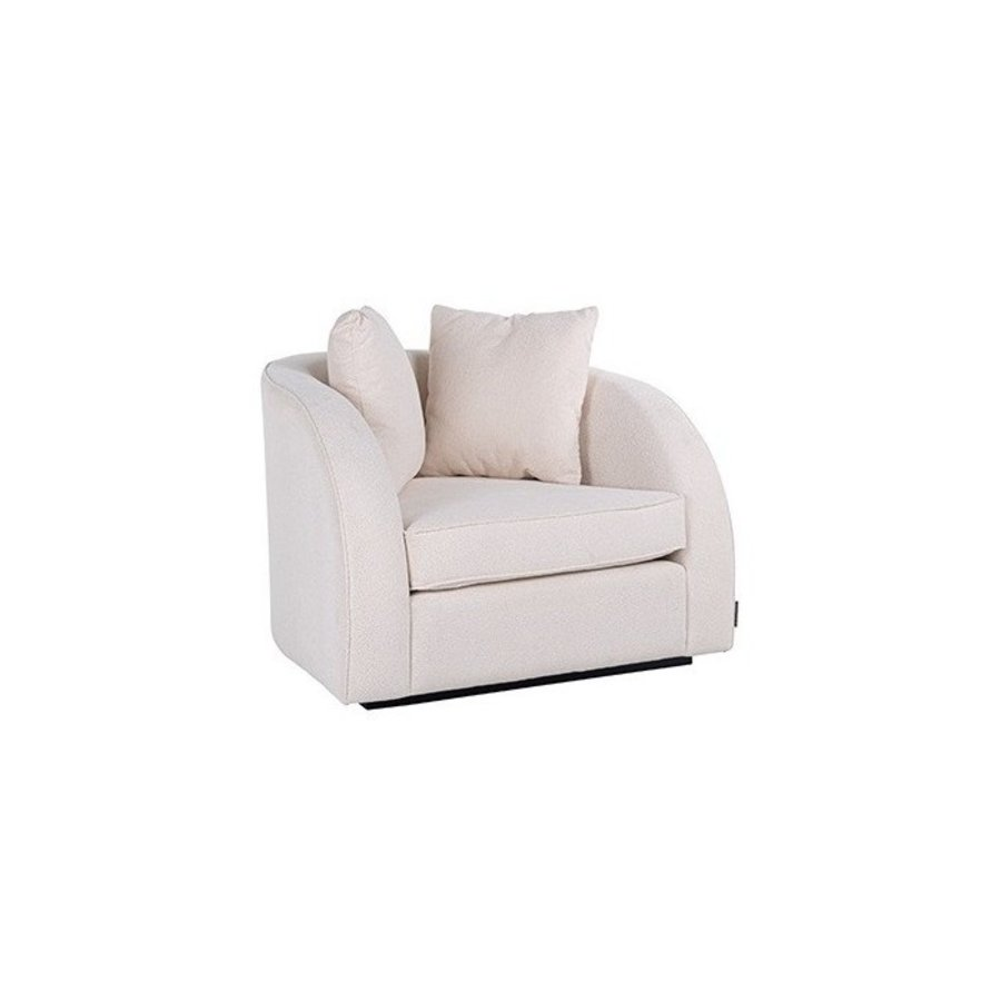 Fauteuil Darwin met 2 kussens White/Gold (Alaska 906 Offwhite) S5123 WHITE/GOLD