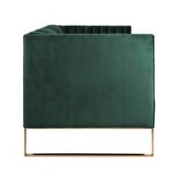 Bank Contessa 3-zits Green Velvet / gold (Quartz Green 501) S5111 GREEN VELVET