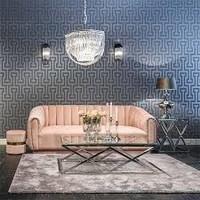 Bank Lorena 3-zits Pink Velvet (Quartz Pink 700) S5110 PINK VELVET