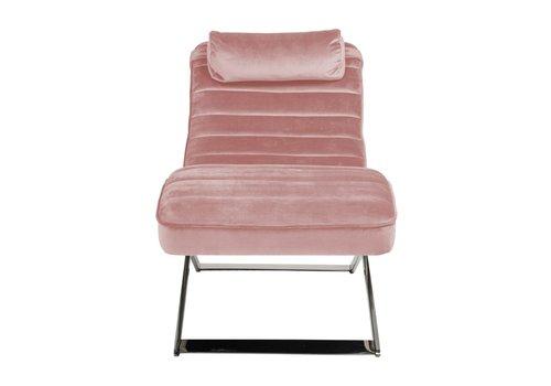 Richmond Interiors Ligbank Rossi Pink velvet / silver (Quartz Pink 700) S5109 PINK VELVET