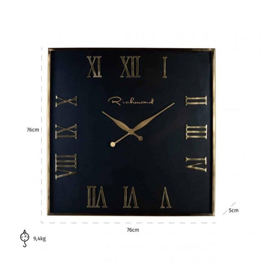 Klok Derial vierkant goud (Goud) -KK-0066